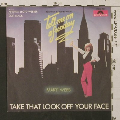 Tell me on a Sunday: Take that Look off your Face, Polydor(2059 201), D, 1980 - 7inch - T1441 - 2,50 Euro