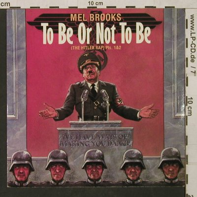 To Be or Not to Be: The Hitler Rap pt1&2, by Mel Brooks, Island(IS 158), UK,  - 7inch - T1505 - 2,50 Euro