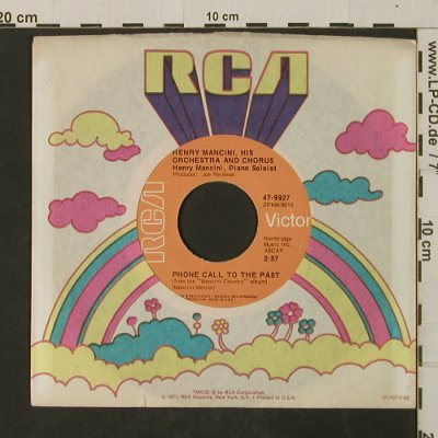 Mancini,Henry: Love Story / Phone Call To The Past, RCA(47-9927), USA,  FLC,  - 7inch - T2684 - 3,00 Euro