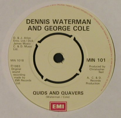 Waterman,Dennis & Cole,George: What Are We Gonna Get 'er Indoors?, EMI(MIN 101), UK, LC, 1983 - 7inch - T2729 - 2,50 Euro
