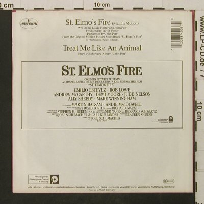 St. Elmo's Fire (Man In Motion): by John Parr, Mercury(884 003-7), D, 1985 - 7inch - T2761 - 1,50 Euro