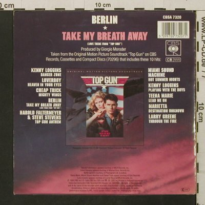 Berlin: Take my Breath Away (from Top Gun), CBS(A 7320), NL, 1986 - 7inch - T2788 - 2,00 Euro