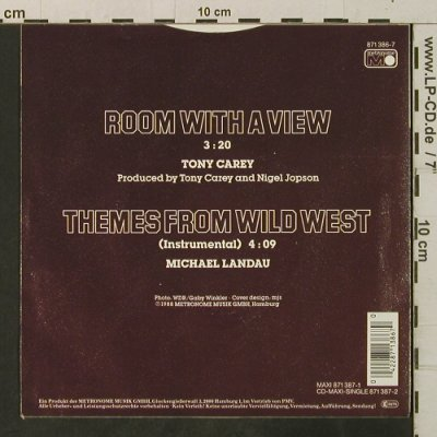 Carey,Tony: Room With A View /Theme Fr.WildWest, MCA(871 386-7), D, vg+/m-, 1988 - 7inch - T3373 - 2,00 Euro