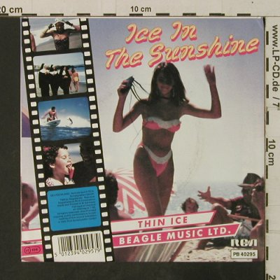 Beagle Music Ltd.: Ice In The Sunshine / Thin Ice, RCA(PB 40295), D, 1985 - 7inch - T3671 - 2,50 Euro