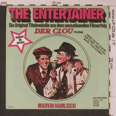 Hamlisch,Marvin: The Entertainer, The Sting, MCA(MCS 7265), D, 1974 - 7inch - T5325 - 2,50 Euro