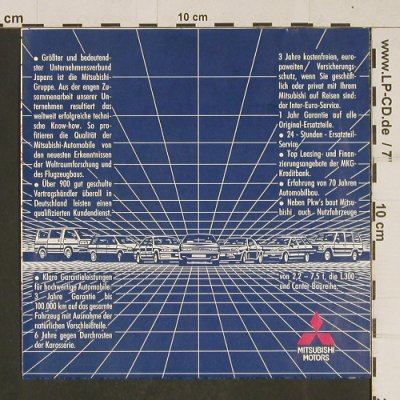 Mitsubishi / Hans Belz: Three Diamonds Are True, Mitsubishi Rec(MMC), D,  - 7inch - T597 - 3,00 Euro