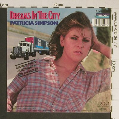 Tatort - Nachtstreife: Dreams in the City,Patricia Simpson, Teldec/Ego Rec.(6.14455), D, 1985 - 7inch - T728 - 2,50 Euro