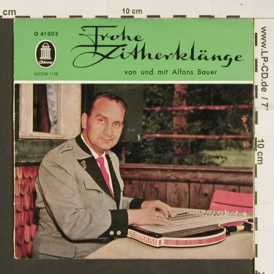 Bauer,Alfons: Frohe Zitherklänge, vg+/m-, Odeon(41 003), D,  - EP - S9477 - 3,00 Euro