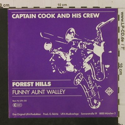Captain Cook & His Crew: Forest Hills / Funny Aunt Walley, UFA(UFA 510), D, 1983 - 7inch - T2387 - 3,00 Euro
