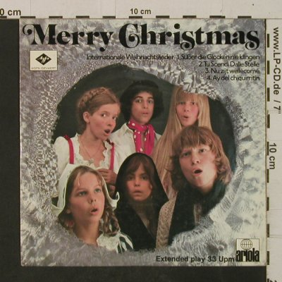 V.A.Merry Christmas: Internationale Weihnachtslieder, Ariola / Agfa-Gevaert(A-2066), D,  - EP - T2455 - 4,00 Euro