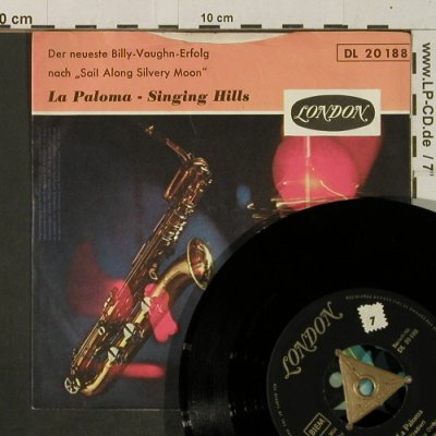 Vaughn,Billy: La Paloma / Singing Hills, vg+/m-, London(DL 20 188), D, stol,  - 7inch - T2984 - 2,50 Euro