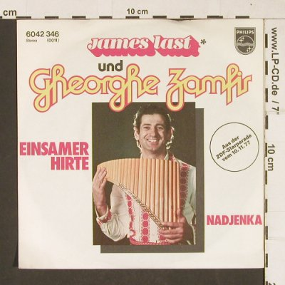 Last,James & Zamfir,Gheorghe: Einsamer Hirte, sign by James Last, Philips(6042 346), D, 1977 - 7inch - T306 - 10,00 Euro