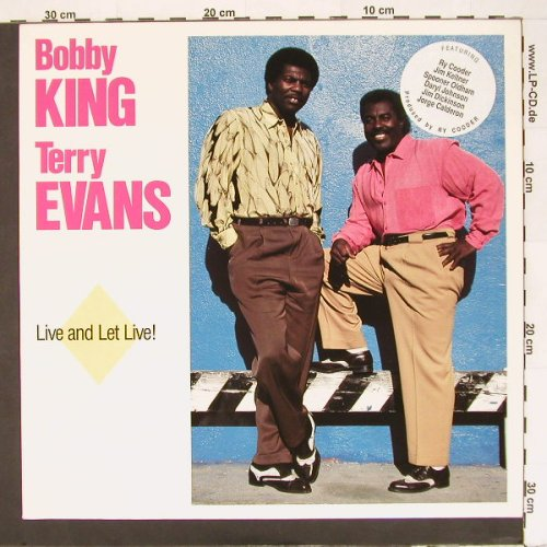 King,Bobby & Terry Evans: Live And Let Live!, Zensor(Marat CM 10), D, 88 - LP - A2404 - 6,00 Euro