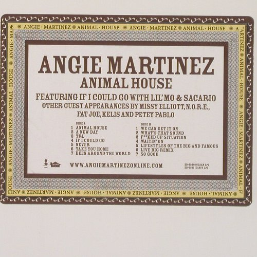 Martinez,Angie: Animal House, +EditedVers., Elektra(ED-6360), US, 02 - 2LP - A7107 - 7,50 Euro