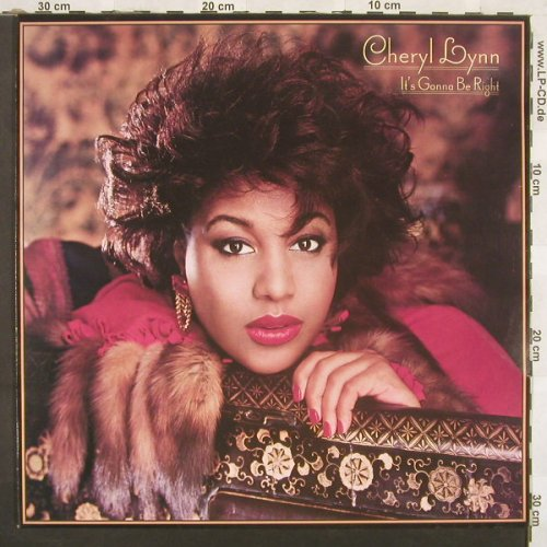 Lynn,Cheryl: It's Gonna Be Right, CBS(26497), NL, 85 - LP - A7275 - 6,00 Euro