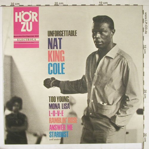 Cole,Nat King: The Unforgettable, vg+/m-, playable, HörZu(SHZE 147), D,  - LP - B1697 - 5,00 Euro