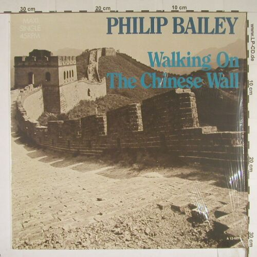 Bailey,Philip: Walking On The Chinese Wall+1, CBS(A 12-6079), NL, 85 - 12inch - B447 - 4,00 Euro