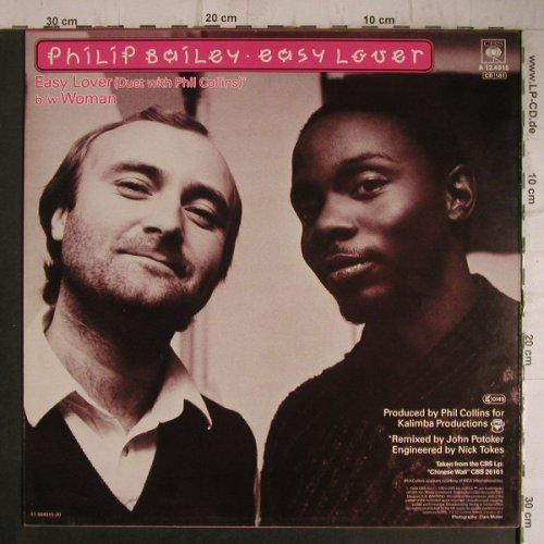 Bailey,Philip with Phil Collins: Easy Lover+1, CBS(A 12.4915), NL, 1984 - 12inch - B4713 - 2,00 Euro
