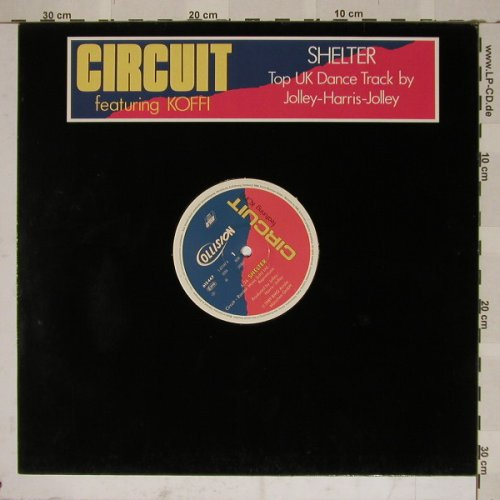 Circuit feat Koffi: Shelter*3, LC, Ariola(612 447-213), D, 89 - 12inch - B4824 - 4,00 Euro