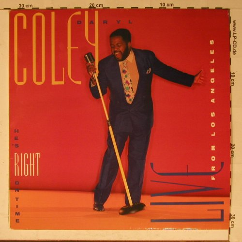 Coley,Daryl: He' right on Time,Live fr. LA, Sparrow(), US, 90 - LP - B5911 - 6,00 Euro