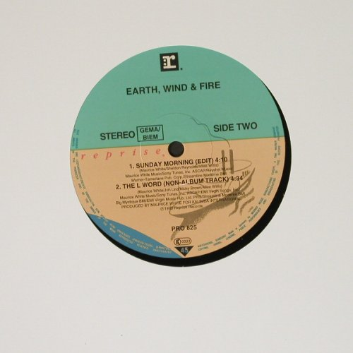 Earth,Wind & Fire: Sunday Morning *2/The L World, LC, Reprise(PRO825), D, Promo, 93 - 12inch - B6386 - 4,00 Euro