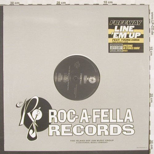 Freeway: Line'Em Up*3+3,Flc, Roc-A-Fell(DEFR 15573-1), US, 02 - 12inch - B8751 - 4,00 Euro