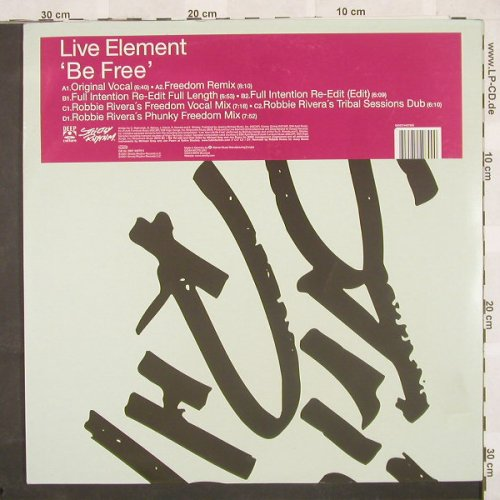 "Live Element: Be Free*7, StrictlyR.(), D, 01 - 2*12"" - B9449 - 5,00 Euro"