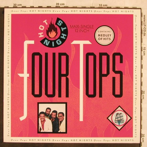 Four Tops: Hot Nights+2, Medley of Hits, Motown(ZT 40848), D, 1986 - 12inch - C2624 - 3,00 Euro