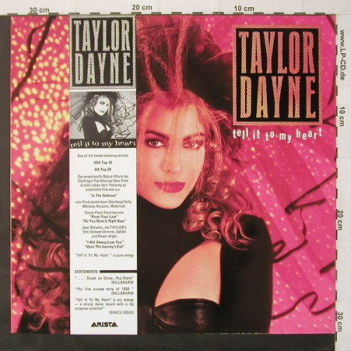 Dayne,Taylor: Tell It To My Heart, Banderole, Arista(208 898), D, 87 - LP - C3814 - 5,50 Euro