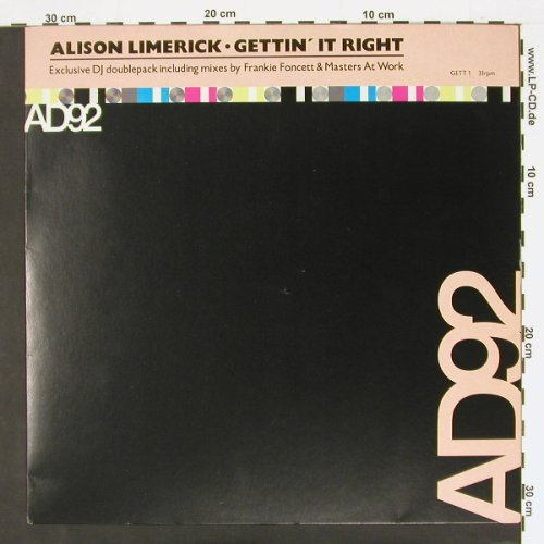 "Limerick,Alison: Gettin'it Right*3+ 12"", Arista(GETT1), , 92 - 12""*2 - C437 - 4,00 Euro"