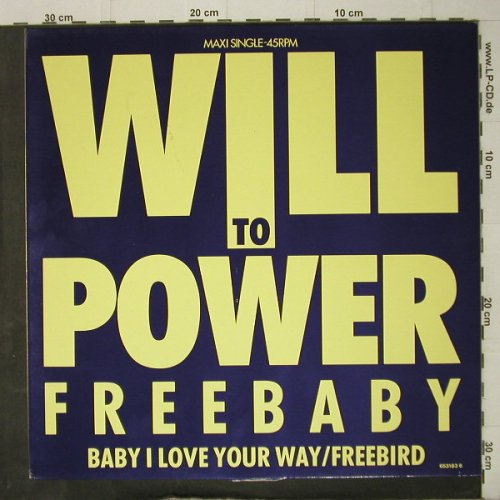 Will To Power: Freebaby +2, m-/vg+, Epic(653183 6), NL, 1988 - 12inch - C7911 - 1,50 Euro