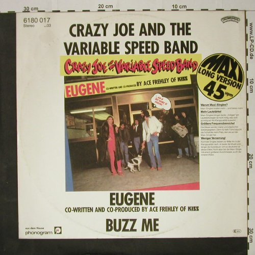 Crazy Joe & Variable Speed Band: Eugene / Buzz Me, Casabl.(6180 017), D, 1980 - 12inch - C8297 - 5,00 Euro