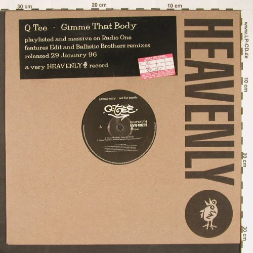Q-TEE: Gimme That Body*4BallisticBrRmx,FLC, Heavenly(HVN 4812P2), EC,Promo, 1985 - 12inch - C9235 - 5,00 Euro