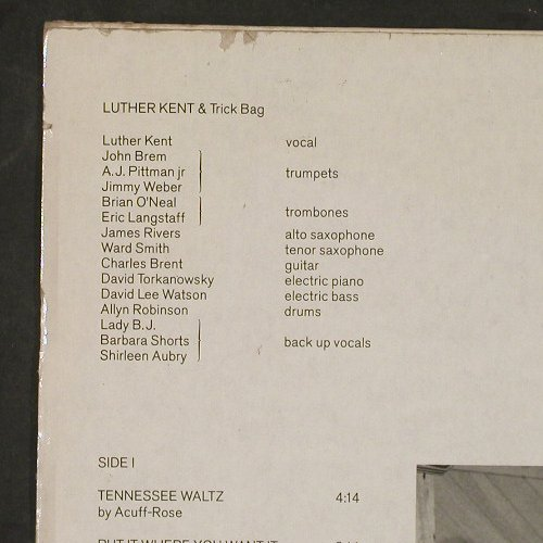 Kent,Luther & Trick Bag: It's In The Bag, Enja(), D, 1984 - LP - C9980 - 6,00 Euro