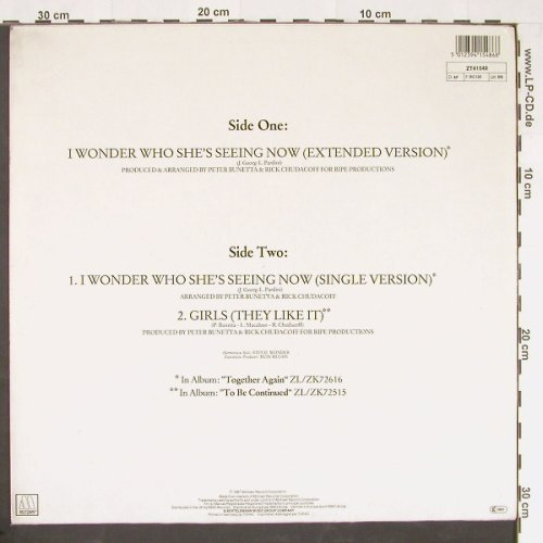 Temptations: I Wonder Who She's Seeing *2+1, Motown(ZT41548), D, 1987 - 12inch - E134 - 2,50 Euro