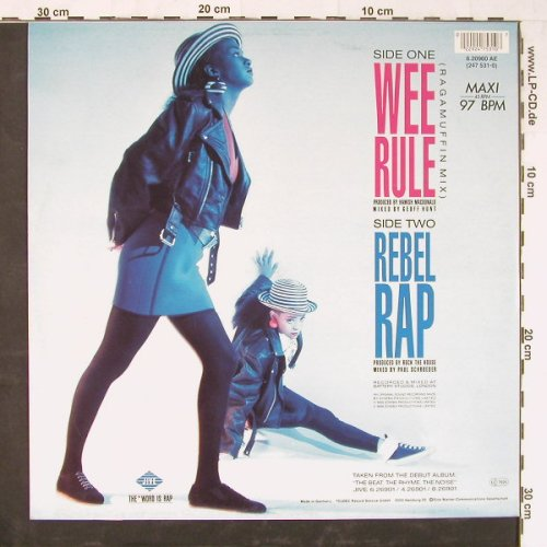 Wee Papa Girl Rappers: Wee Rule / Rebel Rap, Jive(6.20960 AE), D, 1988 - 12inch - E2297 - 3,00 Euro