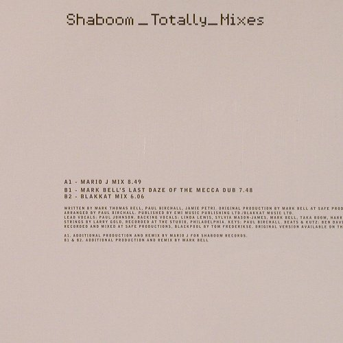 Shaboom: Totally Mixes *3, WEA(233T2), D, 1999 - 12inch - E2463 - 3,00 Euro