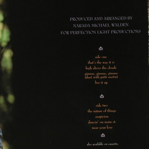 Walden,Narada Michael: The Nature Of Things, WB(925 176-1), D, 1985 - LP - E2716 - 3,00 Euro