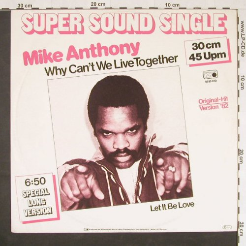 Anthony,Mike: Why Can't We Live Together +1, Metron.(0930.070), D, 1982 - 12inch - E343 - 3,00 Euro