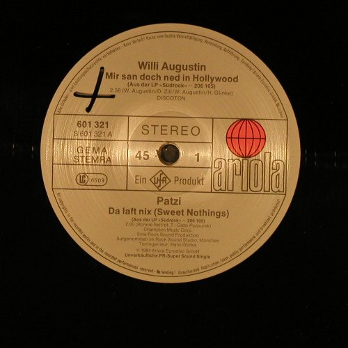 Willy Augustin / Patzi / DieBosse: Continentals, 4Tr.Promo, LC, Ariola(601 321), D, 1984 - 12inch - E4129 - 5,00 Euro