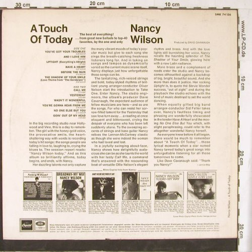 Wilson,Nancy: A Touch Of Today, Capitol(SMK 74 156), D,  - LP - E4423 - 12,50 Euro