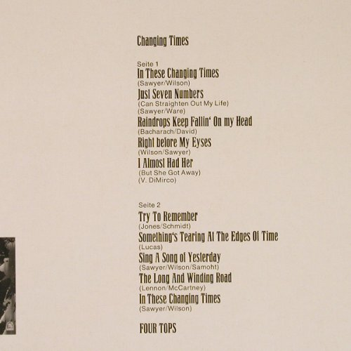 Four Tops: Changing Times, Motown(062-91 859), D,  - LP - E4426 - 14,00 Euro