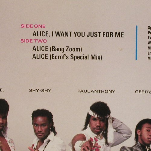 Full Force: Alice,I Want You Just For Me*3, CBS(A 12.6640), NL, 1985 - 12inch - E4516 - 2,50 Euro