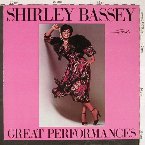 Bassey,Shirley: Great Performances, Fame(15 7594 1), NL, 1984 - LP - E5155 - 5,00 Euro