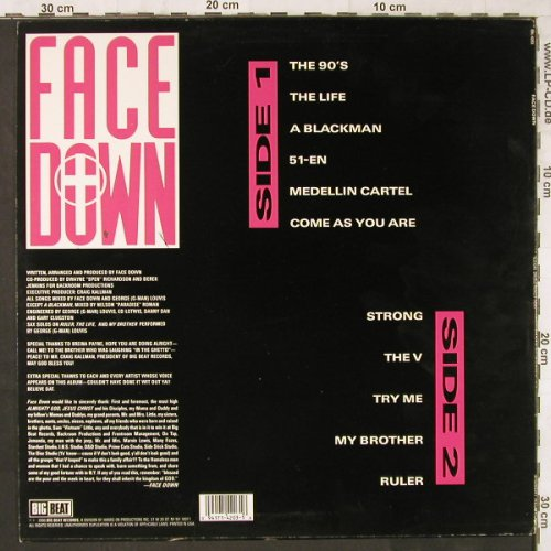 Face Down: Illegal Drugs really Hurt, Big Beat(BBL-4203), US, 1990 - LP - E6162 - 25,00 Euro
