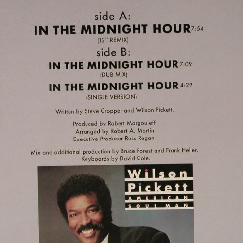 Pickett,Wilson: In the Midnight Hour,rmx 1987 vers., Motown(ZT 41584), D, 1987 - 12inch - E6372 - 2,50 Euro