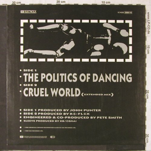 Re-Flex: The Politic Of Dancing(ext.mx)+1, EMI(2000116), D, 1984 - 12inch - E6475 - 5,00 Euro