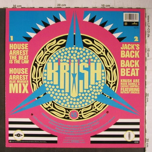 Krush: House Arrest*2/Jacks's Back, Mercury(870 007-1), D, 1987 - 12inch - E6488 - 4,00 Euro