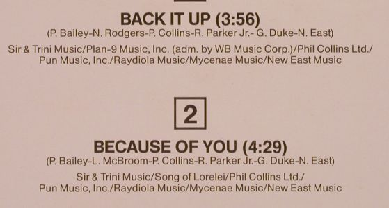 Bailey,Philip: Back It Up / Because Of You, CBS(12.7295), NL, 1986 - 12inch - E687 - 1,50 Euro
