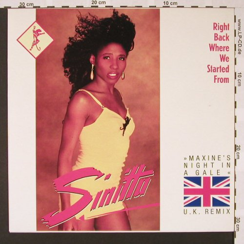 Sinitta: Right Back Where we Started from+2, Teldec(246 785-0 AE), D, 1989 - 12inch - E6957 - 2,50 Euro